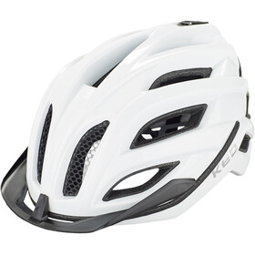 KED Champion Visor Kask rowerowy, white